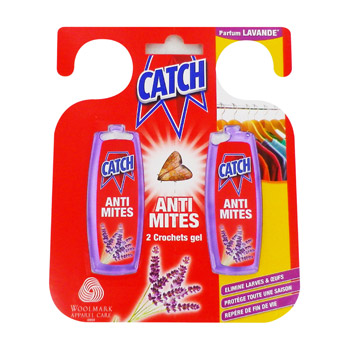 Crochets anti mites senteur lavande CATCH, 2 unites