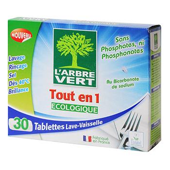 l 39 arbre vert tablettes lave vaisselle ecologique tout en 1 les 30 tablettes de 18 5 g tous. Black Bedroom Furniture Sets. Home Design Ideas
