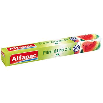 Film etirable alfapac 50m tous les produits emballages - Film etirable alimentaire cuisine ...