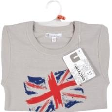 Tee shirt manches courtes Drapeau U COLLECTION, gris orange, taille 2/3 ans