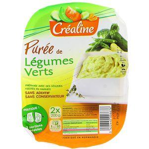 crealine puree de legumes verts les 2 barquettes de 200 g tous les produits pur es prixing. Black Bedroom Furniture Sets. Home Design Ideas