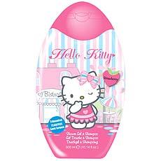 Gel douche et shampooing 2 en 1 HELLO KITTY, 300ml