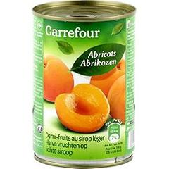 Fruits au sirop abricots Carrefour