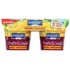 Dessert a l'ananas et coulis passion Plaisir de Fruits ST MAMET, 4x95g