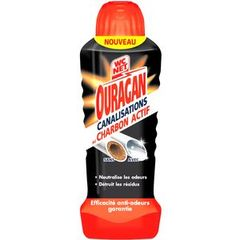 Gel canalisations charbon actif ouragan WC NET, flacon de 700ml