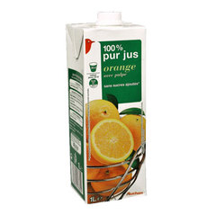 Jus d'orange avec pulpe