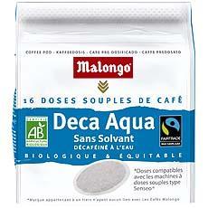 cafe en dosettes deca aqua bio malongo 16 unites 112g tous les produits caf s en dosettes. Black Bedroom Furniture Sets. Home Design Ideas