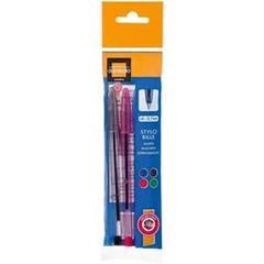 Domedia creative, 4 stylos bille pointe fine assortis, le blister