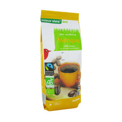 Cafe bio Mexique Cafe moulu pur arabica - Fairtrade Max Havelaar