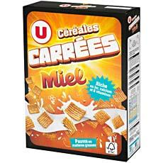 Cereales carrees au miel U, 375g
