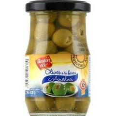 Olives vertes a la farce d'anchois, le pot de 198g