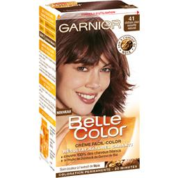 coloration permanente belle color chatain clair noisette n41 - Chatain Clair Coloration