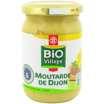 Moutarde Bio Village Dijon 200g