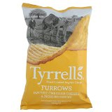 Tyrrells Furrows Hand Cooked English Crisps - Mature Cheddar & Pickled Onion (150g)