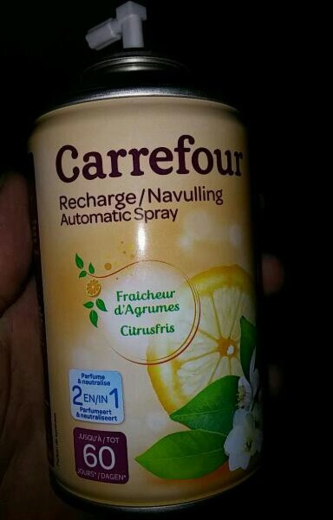 Recharge spray d'agrumes Carrefour