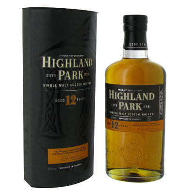 Scotch Whisky single malt HIGHLAND PARK, 40°, 12 ans d'age, 70cl