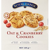ROYAL DANSK Biscuits à l'Avoine/aux Canneberges 125 g