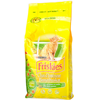 Friskies Vitality + croq chat d'interieur 2kg