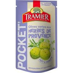 Olives vertes denoyautees aux herbes provence TRAMIER, 70g