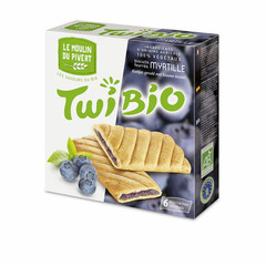 Biscuits Twibio fourrés myrtille x6