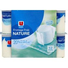 Fromage frais nature U, 20%MG, 12x60g