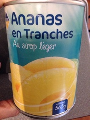 Ananas tranches au sirop léger 340g