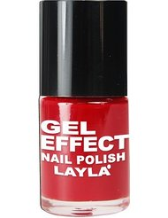 Layla Cosmetics Milano Gel Effet Vernis à Ongles Power Red 10 ml