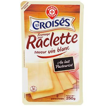 fromage raclette les croises saveur vin blanc 26 mg 250g tous les produits fromages pour la. Black Bedroom Furniture Sets. Home Design Ideas