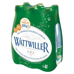Eau finement petillante Wattwiller pet 6x1L