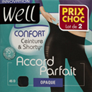 Well collant opaque accord parfait x2bleu nuit taille 4