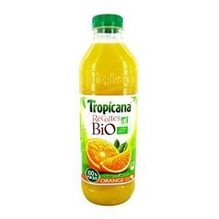 Jus d'orange sans pulpe Recolte bio TROPICANA, 1l