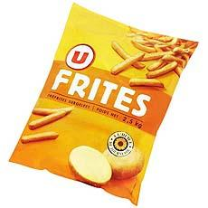 Frites traditionnelles U, 2,5kg