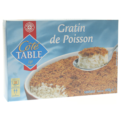 Parmentier poisson Cote Table 450g