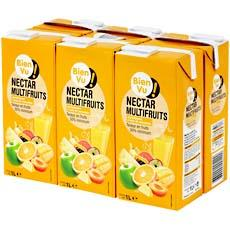 Nectar multifruits Bien Vu, pack de 6x1l