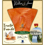 William & James truite de normandie tranche x6 -150g