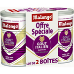 Malongo cafe moulu gout italien duo eco 2x250g