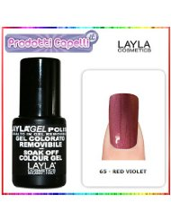 Layla Cosmetics Milano Vernis à Ongles Semi Permanent Soak Off Gel Polish Red Violet 10 ml