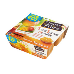 Charles & Alice pomme mangue 4x100g promo