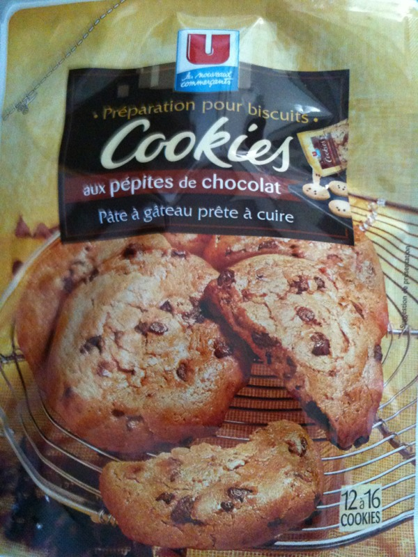 Preparation pour cookies aux pepites de chocolat U, paquet de 350g