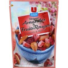 Melange d'amandes et fruits rouges U, 120g
