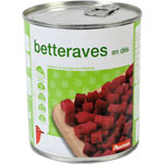 Auchan betteraves en des 530g