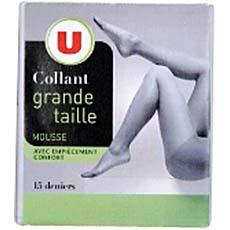 Collant mousse U, taille 6, ambre