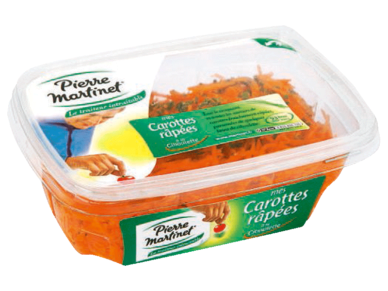 Carottes rapees P. Martinet 500g