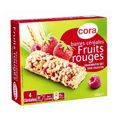 Barres de cereales aux fruits rouges