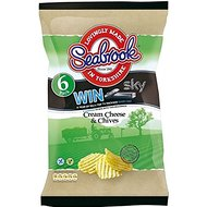 Seabrook Crinkle Cut Crisps - Cream Cheese & Chives (6x25g)