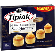 Tipiak mini croustillants saint jacques 200 g