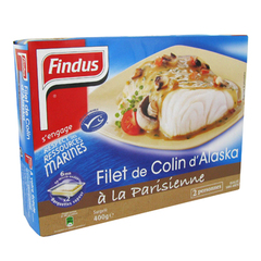Filet de colin d'Alaska a la Parisienne FINDUS, 400g