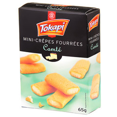 Biscuits Tokapi Mini-crepes Fourrees comte 65g