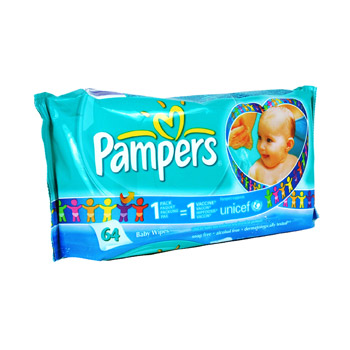 Pampers, Lingettes Fresh Clean, le paquet de 64