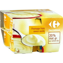 Fromage frais saveur vanille 20% MG